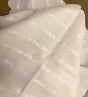 Halstuch Schal 100 x100 Kopftuch Weiß Tuch Schultertuch leicht gemustert - Vorschau 2