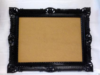 Bilderrahmen Schwarz Barock Hochzeitsrahmen Antik 90x70 Bilderrahmen 50x70 groß - Vorschau 4