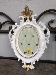 Bilderrahmen Oval Weiß Gold Barock 22x16 Fotorahmen Antik Rahmen Jugendstil Deko