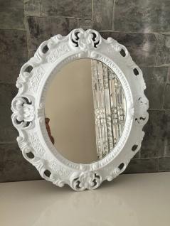 Bilderrahmen Oval barock+GLAS Gold Silber Schwarz Weiß 45x38 Fotorahmen Antik - Vorschau 3