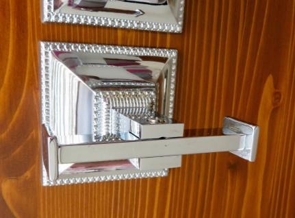 Handtuchhalter Messing Silber Badezimmer Modern Wc Toilette Bad Luxus Klassik