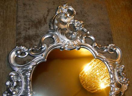 Wandspiegel SILBER Retro Spiegel SHABBY Repro 50X76 ANTIK BAROCK Badspiegel