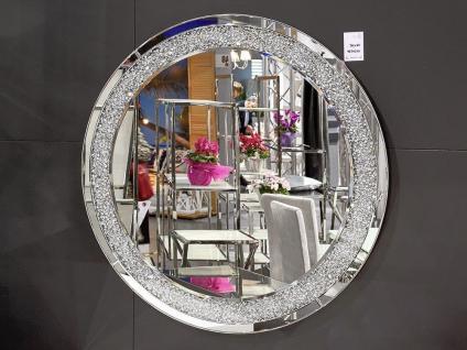 Wandspiegel Glas mit strassstein Rund 90cm Modern Friseurspiegel Ohne rahmen