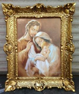 Jesus geburt baby Maria Josef 56x46 Wandbild Heilige religiöse Kunstdruck Bild