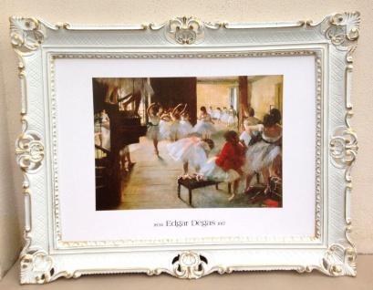 Gemälde Balerina EDGAR DEGAS Bild mit Rahmen 90x70 Tänzerin BAROCK Antik
