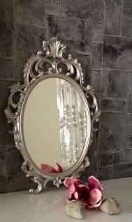 Wandspiegel Antik Silber Oval 43x27 Schminkspiegel Bad-Friseurspiegel C531