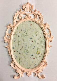 Bilderrahmen Barock pink Rosa Oval Antik 43x27 Bilderrahmen Fotorahmen C531