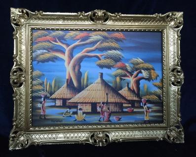 Kamango Asien Bild Gemälde Landschafts Bild auf MDF 90x70cm Wandbild Bild Afrika