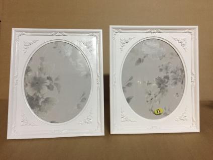 Bilderrahmen oval Weiß Matt 25x21 Barock Fotorahmen Antik Rechteckig C69p - Vorschau 4