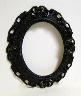 Wandspiegel Schwarz Oval Antik Jugendstil BadSpiegel Spiegel BAROCK45X37 Neu 01