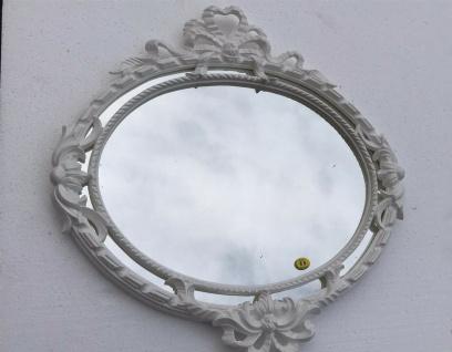 Wandspiegel Rund Weiß Barock Jugendstil 52x50 Badspiegel Antik Flurspiegel