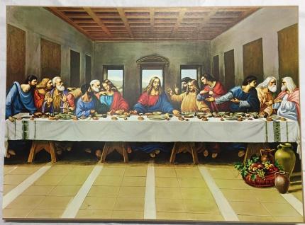Wandbild Das Abendmahl von Leonardo Da Vinci Gemälde Wandbild 50x70 MDF