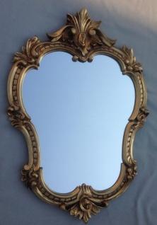 Wandspiegel Antik Gold Oval Retro 50x35 Vintage Barock Spiegel Badspiegel C444G - Vorschau 2
