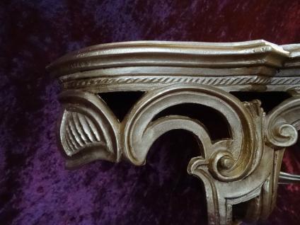 Regal Wandkonsole Gold BAROCK Spiegel KONSOLE 50x20x24 ANTIK ornamente C72 - Vorschau 5