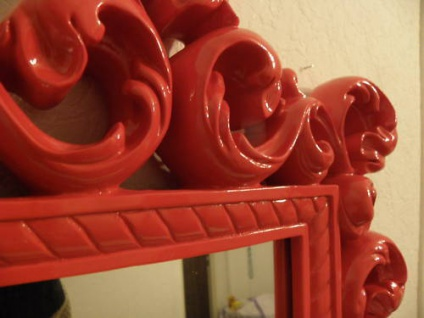 Spiegel Wandspiegel 64 X 54 BAROCK ROT Venezia 09 1 - Vorschau 3