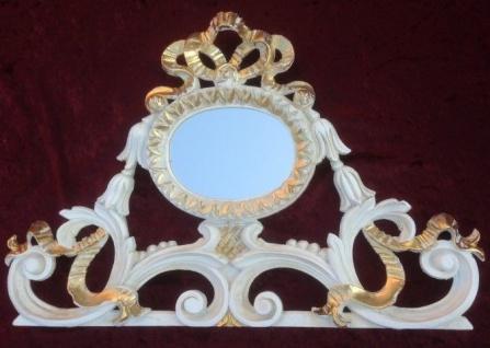 Wandspiegel Barock Gold Spiegel Antik 46x30 BAROCK Oval Wanddeko Relief Antik