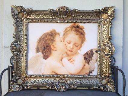 Heilige Engelsbild Küssende Engel 56x46 Heilige Kunstdruck Bild Wandbild Engel