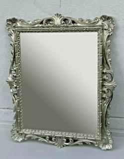 Wandspiegel Antik Silber Barockspiegel 43x37 Badspiegel Mirror Prunk Repro Retro