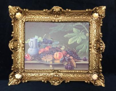 Bild Früchte Feige Weintraube Gemälde gedeckte Tisch Obstgarten 57x47 Wandbild