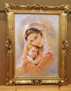 Mutter Baby Madonna Maria Gemälde 90x70 Bild Wandbild Bild mit Rahmen Barock - Vorschau 3