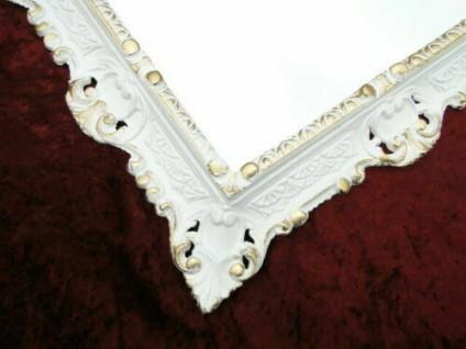 Wandspiegel Weiß gold 45x38cm Barock Spiegel Badspiegel Hängespiegel Antik