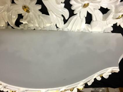 Wandkonsole Antik/Spiegelkonsolen/BAROCK Weiß-Gold Blumenbank Konsole Antik - Vorschau 3