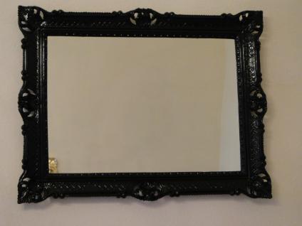 Wandspiegel 90x70 Spiegel BAROCK Badspiegel Rechteckig Antik REG 3057 Schwarz 1 - Vorschau 2