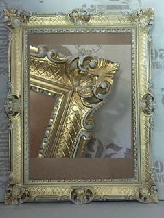 Bilderrahmen groß 90x70 Barock Rechteckig Gold-Weiß Foto Rahmen Antik