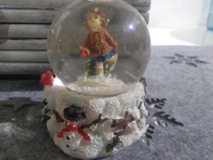 weihnachtskugel Glaskugel Schneekugel schneemann Mädchen im schnee schneeflocken - Vorschau 3