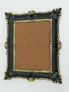 Bilderrahmen Schwarz-gold Barock+Glas /Fotorahmen 56X46 Antik Gemälde Rahmen
