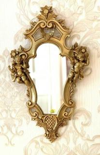Spiegel Barock Wandspiegel 57x33 EngelSpiegel Weiß- gold Rahmen Antik Jugendstil