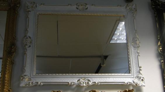 Wandspiegel 90x70 Spiegel BAROCK Rechteckig Antik 1111 Weiß-Gold Badspiegel 1 - Vorschau 4
