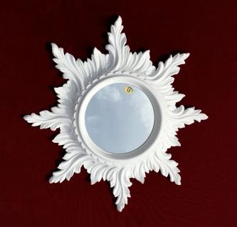 Wandspiegel Barock Weiß SPIEGEL SONNE 50cm Massiv Badspiegel Sun Mirror C495