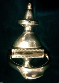 Türklopfer Englisch Messing Poliert Höhe 195mm Antik massiv