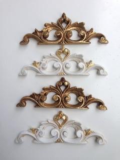 Wandrelief Weiß Gold Wanddeko Barock Relief Türdekoration 20x6, 5 Antik Türbogen