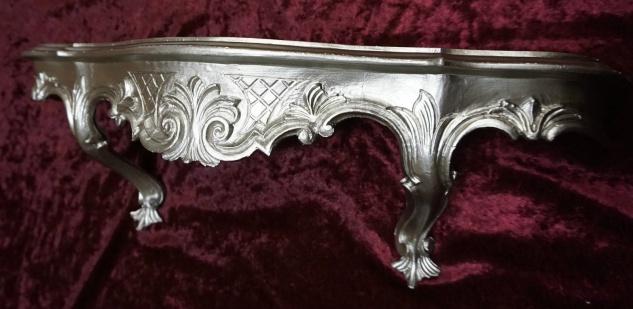 Wandkonsole/Spiegelkonsolen/Wandregal BAROCK ANTIK Silber B:49 x T:13xH:21 cp51 - Vorschau 3