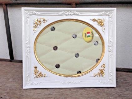 Bilderrahmen Weiß Gold Barock 13x12 Fotorahmen Antik Rahmen Jugendstil Deko - Vorschau 5