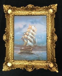 Segelschiff Meer Maritime Barock Schiffsbild 57x47 Wandbild & Rahmen Schiff