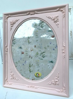 Bilderrahmen Pink Oval Rechteckig 19x17 Antik Barockrahmen Gold Fotorahmen Rosa