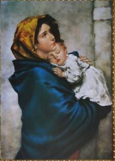 Barock Bild Heilige Madonna mit Kind 50x70cm Christliche Bilder Poster
