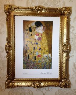 The Kiss Gustav Klimt 90x70 Der Kuss Gemälde Wandbild Kunstdruck Barock Bild - Vorschau 1
