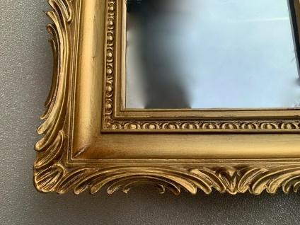 Barock Spiegel Gold Italienische Wandspiegel Antik Rechteckig 33x28 Modern Deko - Vorschau 3