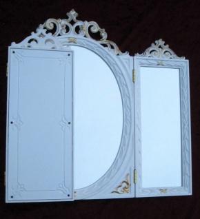 Wandspiegel Antik Oval Rechteckig Weiß Gold Badspiegel BAROCK 60X46 Spiegel c508 - Vorschau 2