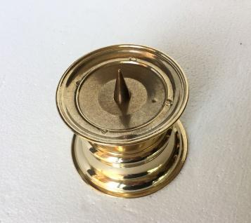 Kerzenhalter Messing Poliert Kerzenleuchter Gold 8 Cm Massiv Kandelaber - Vorschau 4