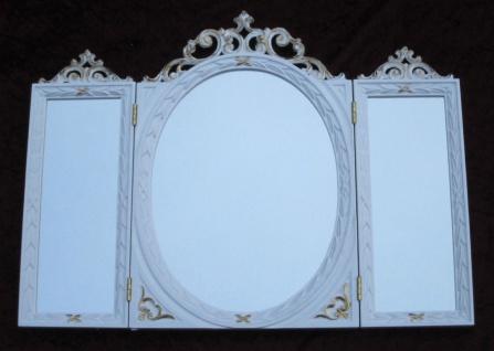 Wandspiegel Antik Oval Rechteckig Weiß Gold Badspiegel BAROCK 60X46 Spiegel c508 - Vorschau 3