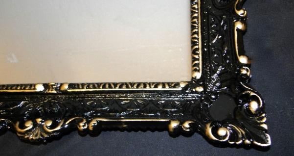 Spiegel Antik Schwarz-Gold Wandspiegel Barock Shabby Chic, Jugendstil 57x47 - Vorschau 2