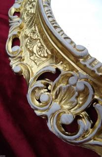 Bilderrahmen Oval Gold-Weiß Retro Barock Spiegelrahmen 45X37 Antik Fotorahmen - Vorschau 2