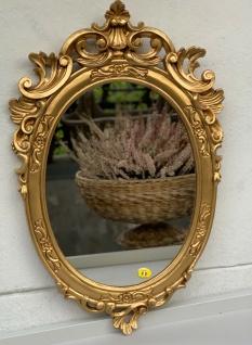 Barock Wandspiegel Gold Oval Spiegel Antik Rokoko Badspiegel 49x32 Shabby Prunk - Vorschau 5