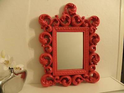 Spiegel Wandspiegel 64 X 54 BAROCK ROT Venezia 09 11