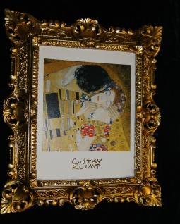 Bilder mit Rahmen Kunstdruck Gustav Klimmt der Kuss 45x37 Barockrahmen - Vorschau 2